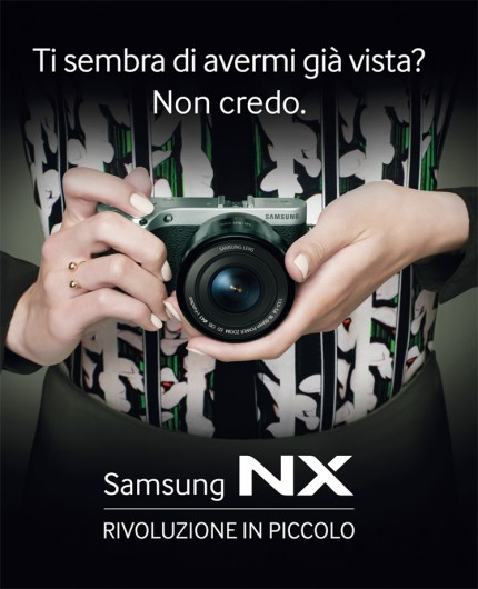 Samsung NX 500 advertising commercial