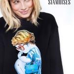 Siamoises advertising shooting with Emma Marrone