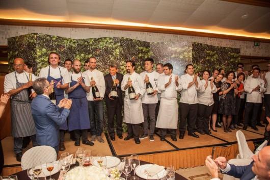 Four Seasons Milano dinner meeting.