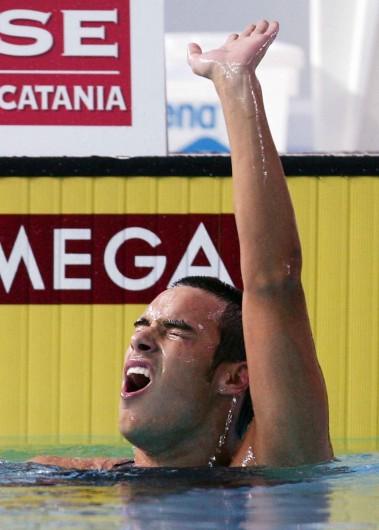 Luca Marin. Assoluti di nuoto. Fotografo eventi.