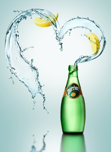 Perrier. Splash and High speed photography
